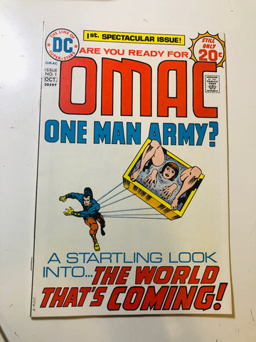 Omac One Man Army #1 high grade comic book 1974