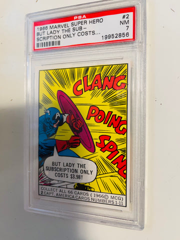 Captain America PSA 7 high grade Donruss card 1966