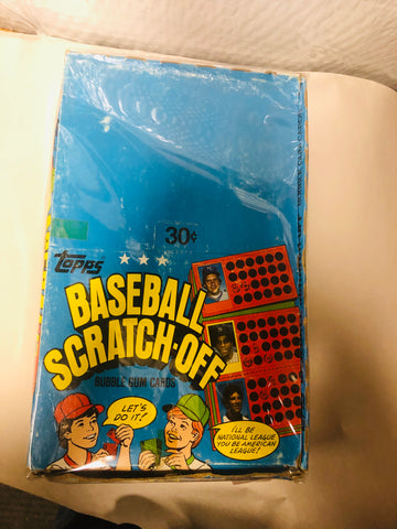 1981 Topps Baseball Scratchoffs rare 48 packs box