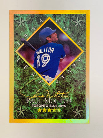 Toronto Blue Jays Paul Molitor Donruss foil baseball insert card 1994