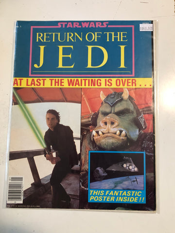 Star Wars Return of the Jedi original folded poster magazine 1983
