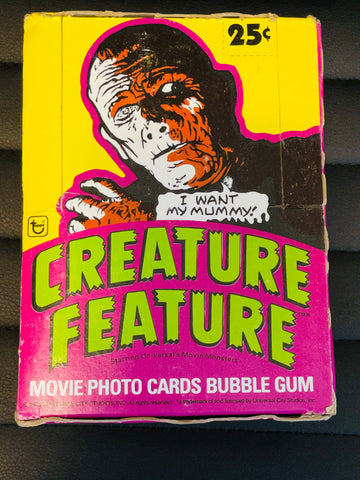 1980 Topps Creature Feature Universal Movie Monsters 36 sealed packs cards box
