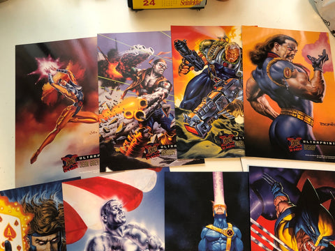 X-Men Fleer Ultraprints 8 cards set 1994