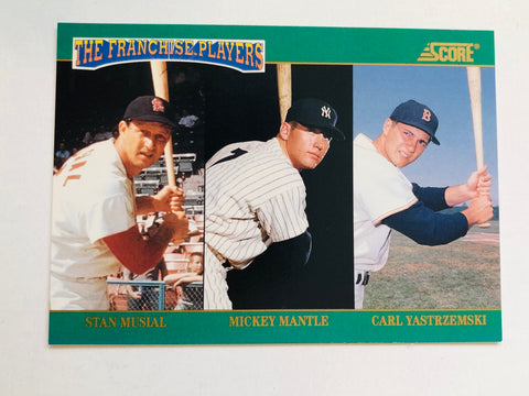 Mickey Mantle Two Score baseball insert cards 1990s
