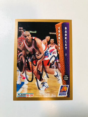 Charles Barkley NBA legend rare signed basketball card with COA