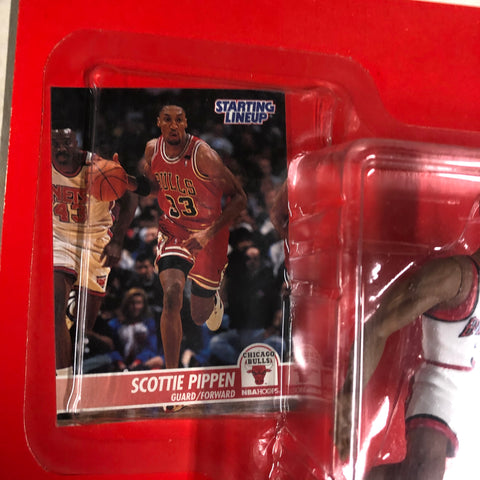 Scottie Pippen Starting Lineup basketball figure with card 1995