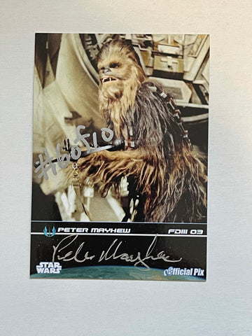 Star Wars Chewbacca Peter Mayhew rare signed #6/10 numbered card with COA