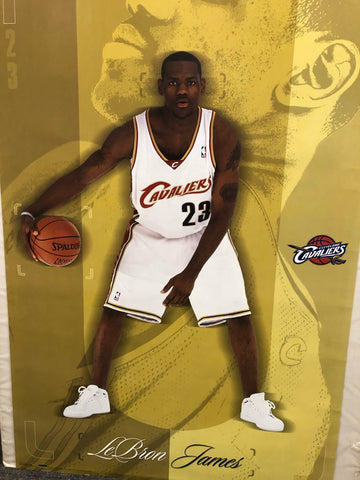 LeBron James original vintage rookie NBA basketball poster 24x36