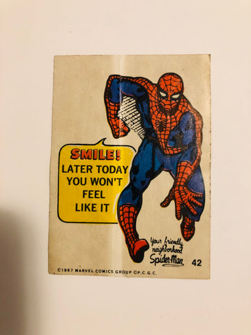 1967 Marvel Phili gum rare Spider-Man sticker card