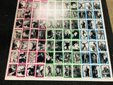 Universal Monsters You'll die Laughing rare uncut cards sheet 1980