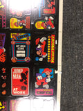 1981 Donkey Kong game stickers rare uncut sheet