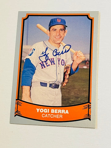 Yogi Berra signed in person baseball card with COA