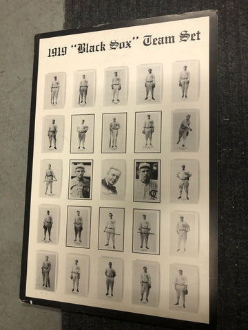 1919 Black Sox team set limited issued poster on foam board 1990s