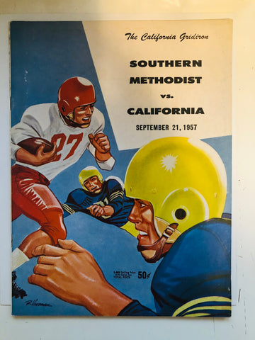1957 Football game program SMU vs California