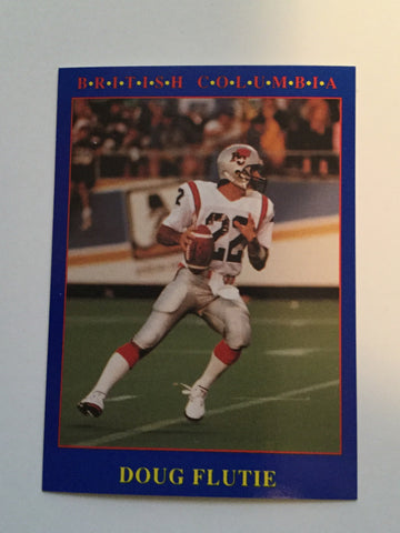 CFL football Doug Flutie rookie card 1990