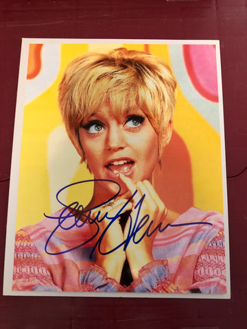 Laugh-In TV show rare Goldie Hawn autograph sold with COA
