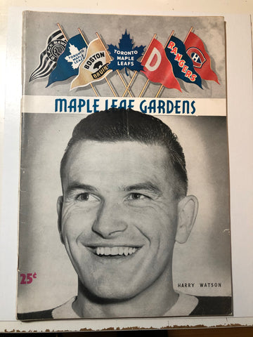 Toronto Maple Leafs hockey game program Feb.25,1953