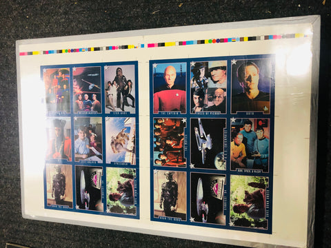 Star Trek Colorado Starfest rare uncut special cards sheet set 1994