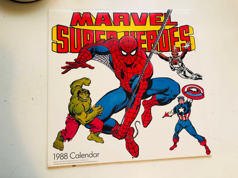 Marvel Superheroes calendar 1988
