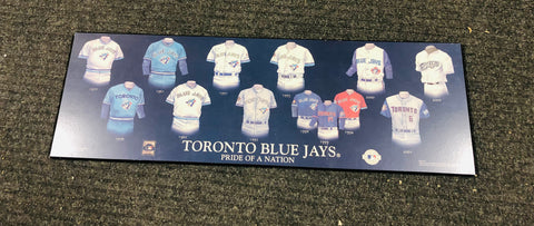 Toronto Blue Jays Pride of the Nation poster on particle board