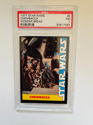 Star Wars Chewbacca PSA 7 high grade wonder bread card 1977