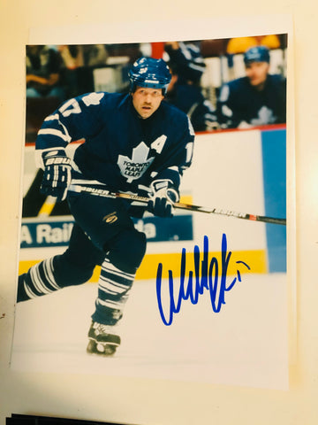 Wendel Clark Toronto Maple Leafs autograph photo with COA