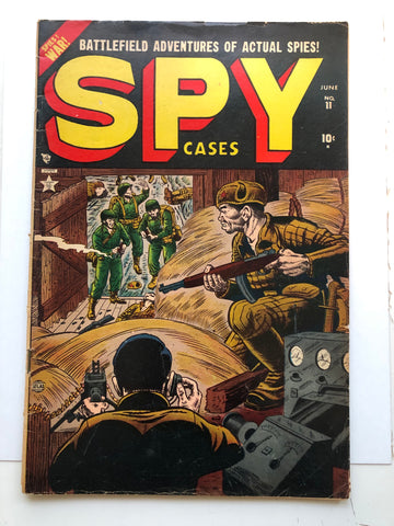 Spy Cases vintage War comic book 1952