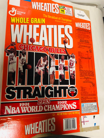 Michael Jordan Chicago Bulls rare Wheaties cereal NBA champions box 1993
