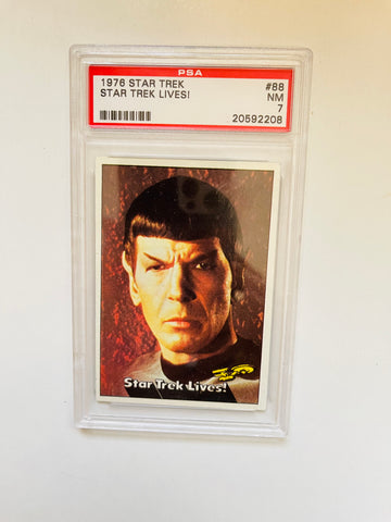 "Star Trek ""Star Trek Lives"" PSA 7 high grade card 1976"