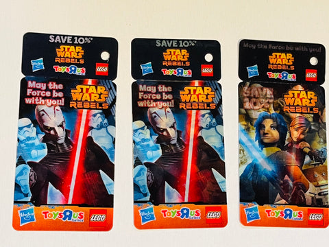 Star Wars Rebels Toys R Us 3 lenticular cards 2014