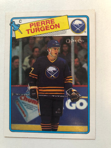 Pierre Turgeon opc hockey rookie card 1988