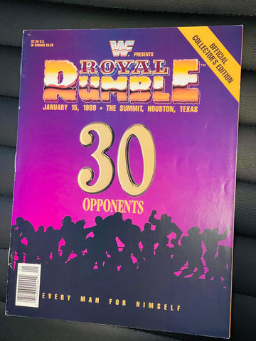 Wrestling Royal Rumble rare original program 1989