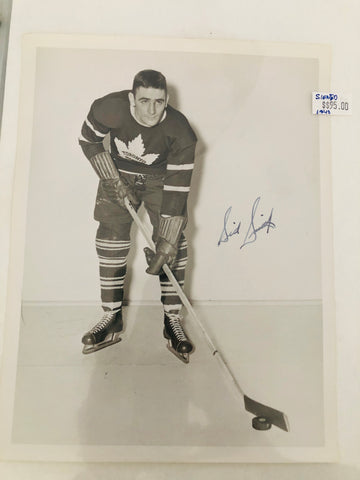 Toronto Maple Leafs Sid Smith rare signed photo with COA