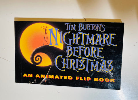 Nightmare Before Christmas vintage animation flip book