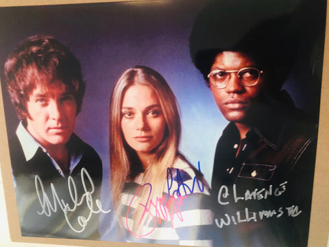 Mod Squad TV show rare Triple autographs photo with COA