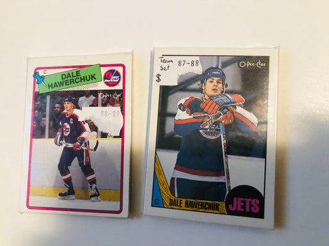 Winnipeg Jets hockey two vintage team sets. 1987-88 and 1988-89 opc.
