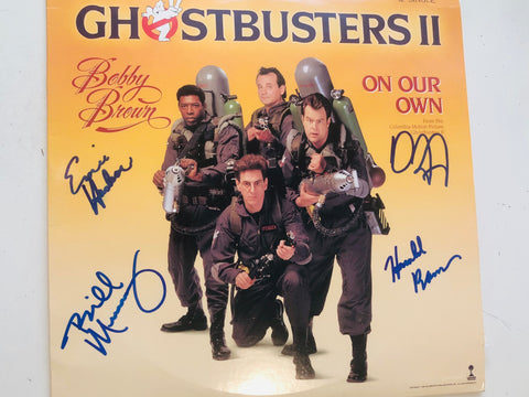 Ghostbusters 2 main cast 4 autographs signed album with COA