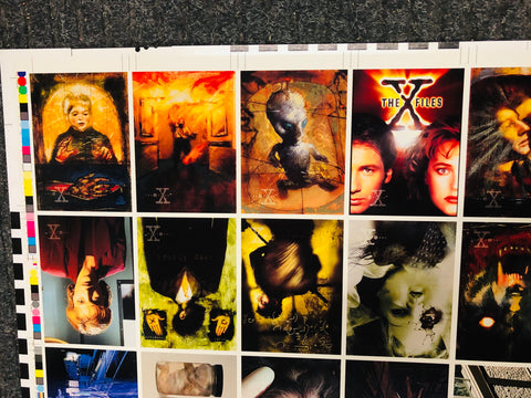 X-Files TV show rare gallery uncut card sheet 1990s