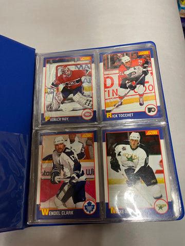 Kellogg's Score limited issued hockey cards set in binder 1991