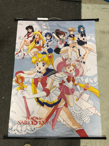 Sailor Moon large 3 ft tall canvas vintage poster 1990s