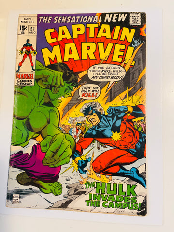 Captain Marvel #21 comic FN condition 1968