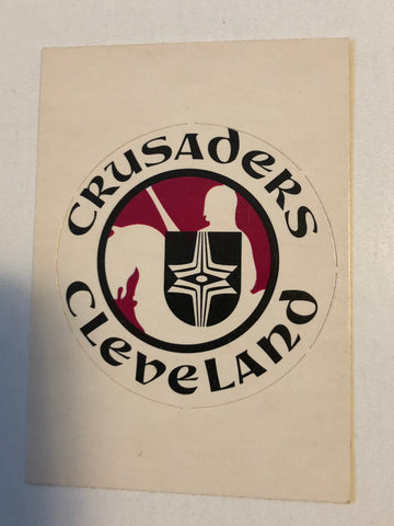 Cleveland Crusaders hockey team logo opc insert card 1972
