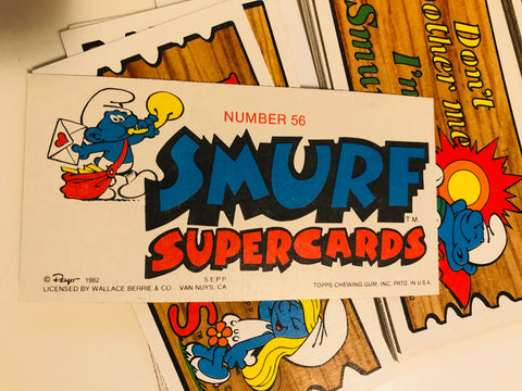 Smurf Supercards set from 1982