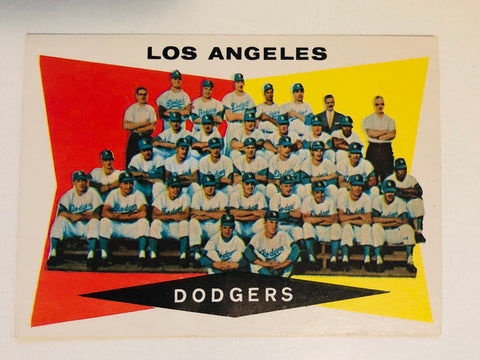 1960 Topps LA Dodgers baseball team card