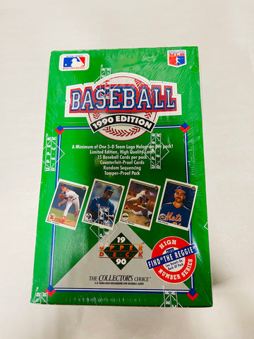 1990 Upper Deck baseball cards 36 packs factory sealed box
