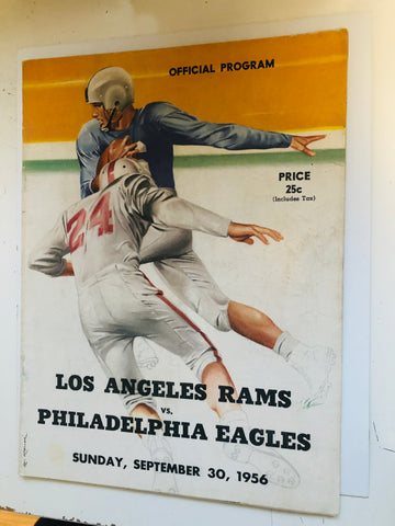 1956 LA Rams vs Philadelphia Eagles football game program
