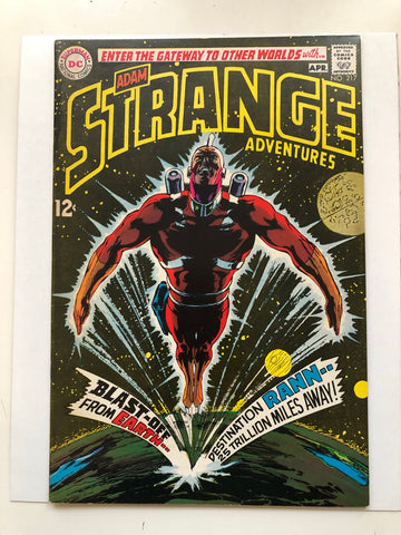 Strange Adventure Adam Strange Origin comic book 1969