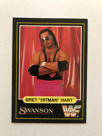 Wrestling legend Brett Hart Swansons limited issued card