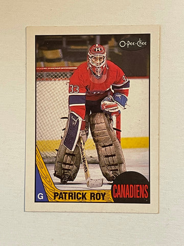 Patrick Roy Opc 2nd year high grade hockey card 1987