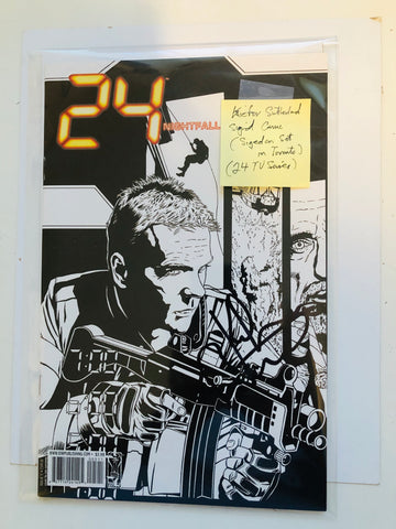 Kiefer Sutherland rare signed 24 comic book with COA